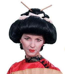 """Perücke: Asiatin-Perücke """"Miss Saigon"""", schwarz, Hochsteckfrisur - 1"""