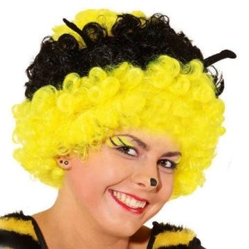 Perücke: Bienen-Perücke, schwarz-gelb - 1