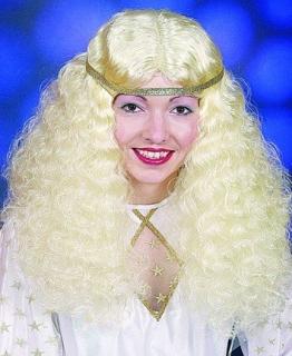 Perücke, blond – für Engel, Prinzessin und Christkind - 1