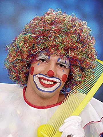 Perücke, Clown August, bunt - 1