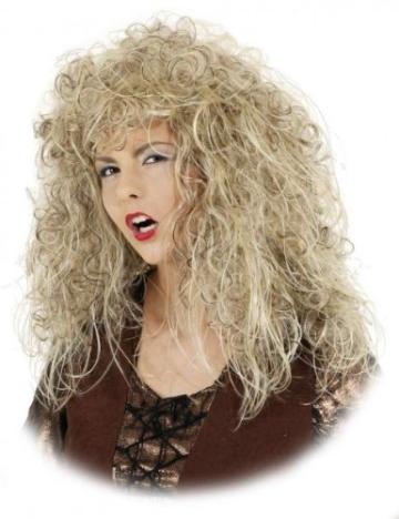 """Perücke: """"Crazy Witch"""", lange blonde Locken mit Glitterfäden - 1"""