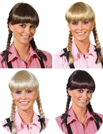 """Perücke: Damen-Perücke """"Lena"""", mit Zöpfen, verstellbar verschiedene Farben - 1"""