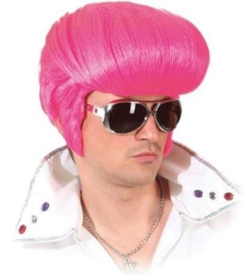 Perücke: Elvis-Perücke, pink - 1