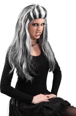 Perücke Emilia, schwarz-weiß - 1