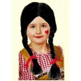 """Perücke: Kinderperücke """"Gretchen"""", schwarz - 1"""