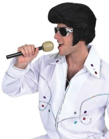 Perücke: King-Elvis-Perücke, schwarz - 1