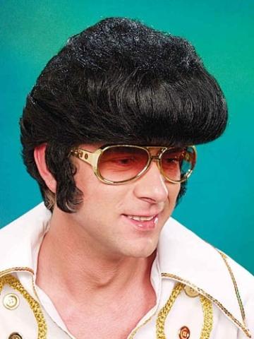 Perücke: King-Elvis-Perücke, schwarz - 2