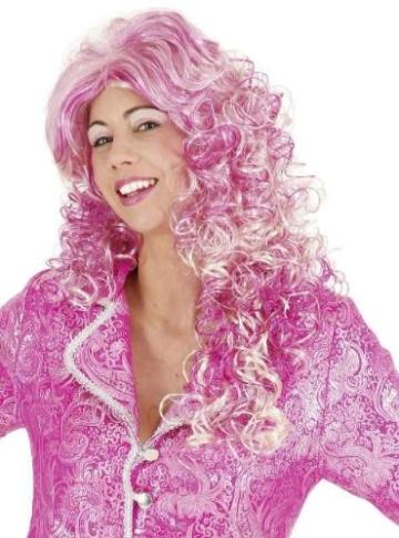 "Perücke ""Lissy"", blond-pink, lang - 1"