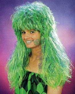 "Perücke: Meerjungfrau-Perücke ""Ariella"", grün - 1"