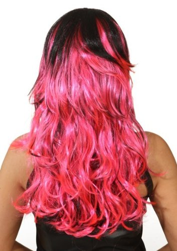 "Perücke: Perücke ""Dominika"", pink-schwarz oder orange-schwarz - 2"