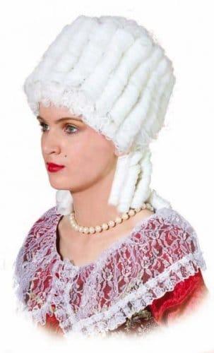 """Perücke: Perücke """"Marie Antoinette"""", weiß, braun oder natur - 1"""