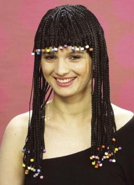 Perücke: Rastaperücke für Damen, schwarz - 1