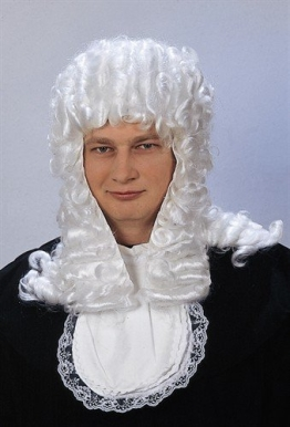 Perücke: Richter-Perücke, weiß - 1