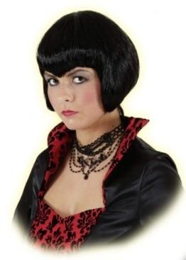 """Perücke: """"Vamp"""", kurze schwarze Haare - 1"""