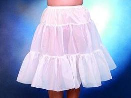 Petticoat knielang weiß - 1