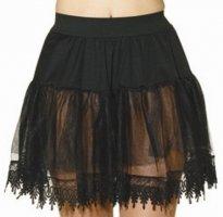 Petticoat, schwarz, mit Spitze, 1-lagig, verschiedene Größen - 1