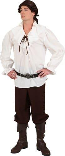 Piraten-Kostüm: Bluse/Hemd, creme-weiß, verschiedene Größen - 1