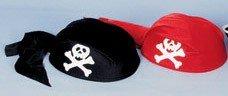 Piraten-Kostüm: Piratenkappe, rot, weißer Totenkopf, Kinder-Einheitsgröße - 2