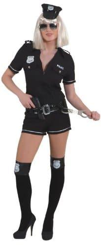 Police Girl schwarz : Overall und Gürtel - 1