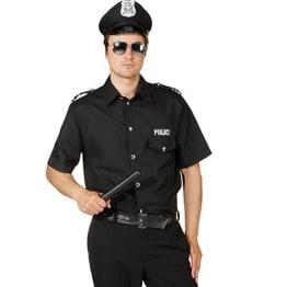 Police Hemd schwarz - 1