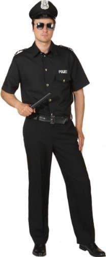 Police Man schwarz : Hemd und Hose - 1