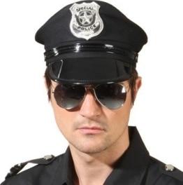 Polizei-Brille verspiegelt - 1