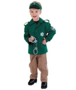 Polizeiuniform grün für Kinder - 1