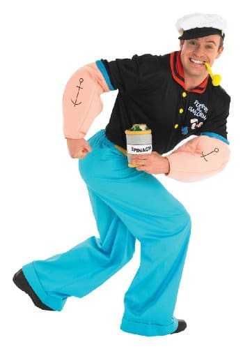 Popeye der Seemann Verkleidung, Kostüm für Erwachsene - 1