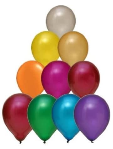Premium-Ballon: Luftballon, 90 – 100 cm, metallic, 50er-Pack - 1