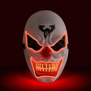 Purge Maske, LED Halloween Maske, Horrormaske 1