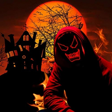 Purge Maske, LED Halloween Maske, Horrormaske 2
