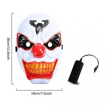Purge Maske, LED Halloween Maske, Horrormaske 4
