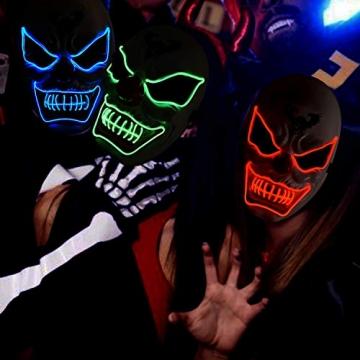 Purge Maske, LED Halloween Maske, Horrormaske 5