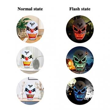 Purge Maske, LED Halloween Maske, Horrormaske 6