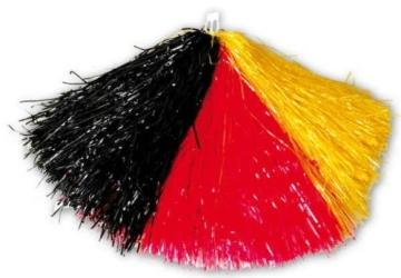 Puschel: Cheerleader, schwarz-rot-gelb, 240 g - 2