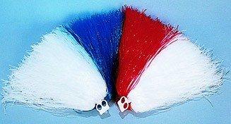 Puschel für Cheerleader, rot-weiß, Kunststoff, 240 g - 1