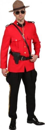 Ranger-Kostüm: rote Jacke, schwarze Reiterhose - 1