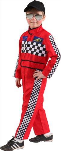 Rennfahrer-Kostüm: Overall, rot, verschiedene Kindergrößen - 1
