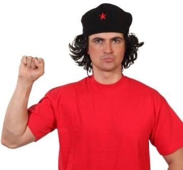"""Revolutionsmütze: Mütze mit Haaren """"Ernesto"""", schwarz - 1"""