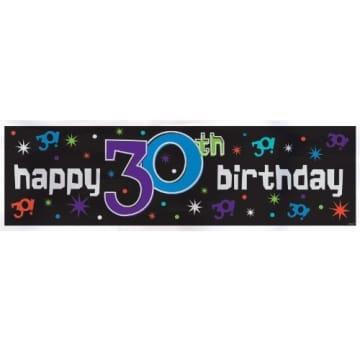 Riesen-Banner zum 30. Geburtstag, 51 x 165 cm, Kunststoff - 1