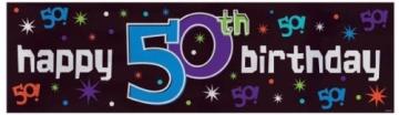 Riesen-Banner zum 50. Geburtstag, 51 x 165 cm, Kunststoff - 1