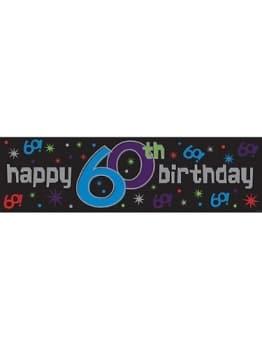 Riesen-Banner zum 60. Geburtstag, 51 x 165 cm, Kunststoff - 1