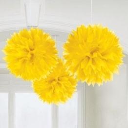 Riesen-Wabenball gelb 60cm, Restposten Partydeko - 1