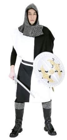 Ritter-Kostüm: Waffenrock, schwarz-weiß viergeteilt - 1
