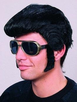 Rock 'n Roll Brille mit Koteletten - 1