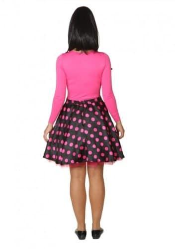 Rock 'n Roll Rock mit Petticoat und Halstuch schwarz und pink gepunktet - 2