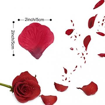 Rosenblätter - Rosen Blüten - Valentinstag - Hochzeit - Geburtstag - romantischer Abend 2