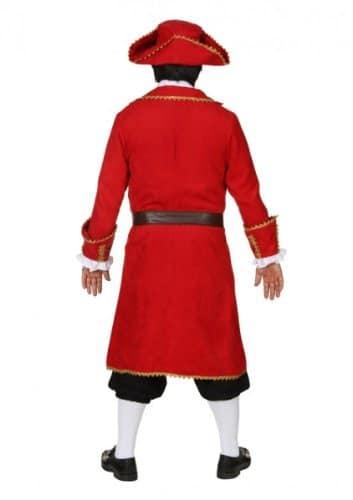 roter Piratenmantel mit Gürtel, Jabot und Hut - 2