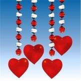 Rotorspirale: Herz-Rotorspiralen, rot-silber, 80 cm, 4er-Pack - 1