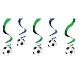 Rotorspirale mit Fußball, 61 cm, 5er-Pack - 1